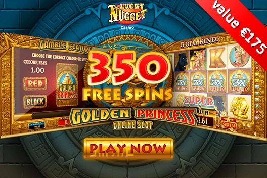 350_lucky_nugget_free_spins_golden_princess_online_slot